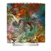 The Carina Nebula Panel Number Three Out Of A Huge Three Panel Set Shower Curtain