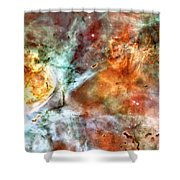 The Carina Nebula Panel Number Two Out Of A Huge Three Panel Set Shower Curtain