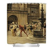 The Carnival Procession Shower Curtain
