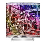 The Carousel Of Alice   Shower Curtain