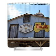 The Carpenter Farm Supply Shower Curtain