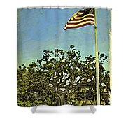 The Casements Flag Flying Shower Curtain