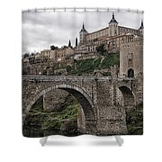 The Castle And The Bridge Shower Curtain