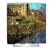 The Castle At Brecon Shower Curtain