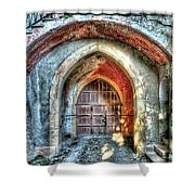 The Castle Door - La Porta Del Castello Shower Curtain