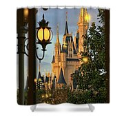 The Castle From The Palace Shower Curtain