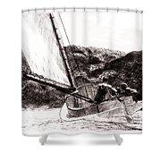 The Cat Boat, Edward Hopper Shower Curtain