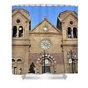 The Cathedral Basilica Of St. Francis Of Assisi, Santa Fe, New M Shower Curtain