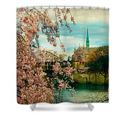 The Cathedral Basilica Of The Sacred Heart Shower Curtain