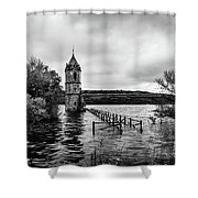 The Cathedral Of Fish Bw Shower Curtain