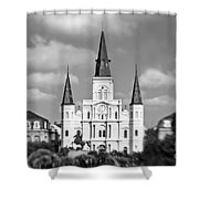 The Cathedral - Bw Shower Curtain