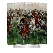 The Cavalry Shower Curtain by WT Trego