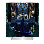 The Cave Temple Of Lhariahn Shower Curtain