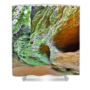 The Caves At Old Man's Gorge Trail Hocking Hills Ohio Shower Curtain