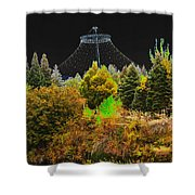 The Center Of Downtown Spokane Shower Curtain