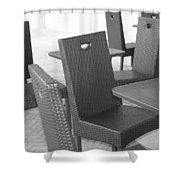 The Chairs Shower Curtain