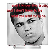 The Champ Muhammad Ali  Shower Curtain