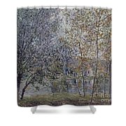 The Channal Of Loing In Spring Shower Curtain