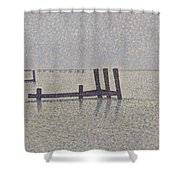 The Channel At Nieuport Shower Curtain