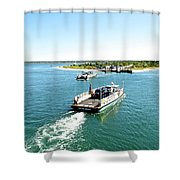 The Chappy Ferry Shower Curtain