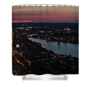 The Charles River Runs Through Boston At Sunset Boston, Ma Shower Curtain