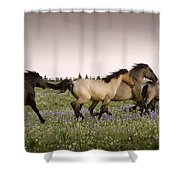 The Chase 1 Shower Curtain by Roger Snyder