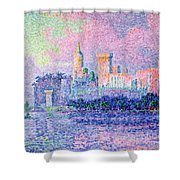 The Chateau Des Papes Shower Curtain