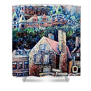The Chateau Frontenac Shower Curtain