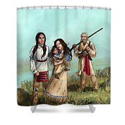 The Cherokee Years Shower Curtain by Brandy Woods