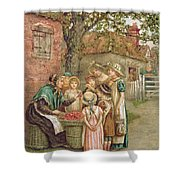The Cherry Woman Shower Curtain