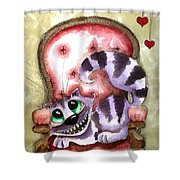 The Cheshire Cat - Lovely Sofa Shower Curtain