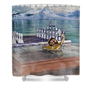 The Chess Game Shower Curtain