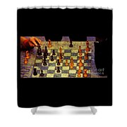 The Chess Game, New York City C. 1977 Shower Curtain