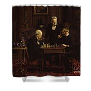 The Chess Players Shower Curtain