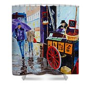 The Chestnut Seller Shower Curtain