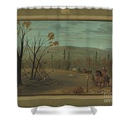The Cheyenne Brothers Returning From Their Fall Hunt Shower Curtain