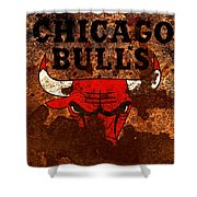 The Chicago Bulls R1 Shower Curtain