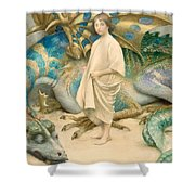 The Child In The World Shower Curtain