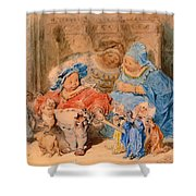 The Childhood Of Gargantua Shower Curtain