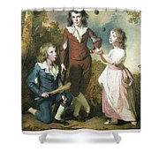 The Children Of Hugh And Sarah Wood Of Swanwick Derbyshire Shower Curtain