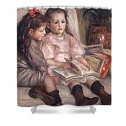 The Children Of Martial Caillebotte Shower Curtain by Pierre Auguste Renoir