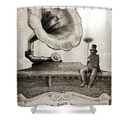 The Chimney Sweep Monochrome Shower Curtain by Eric Fan
