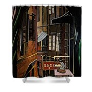 The Chinese Painter Shower Curtain