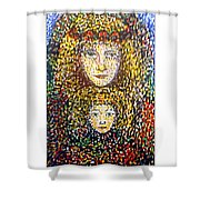 The Chosen One With The Holy Child Shower Curtain