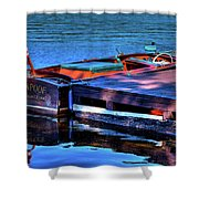 The Vintage 1958 Chris Craft Shower Curtain