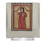 The Christ Child-retalba El Nino Perdido, (the Lost Child) A Retabla Shower Curtain