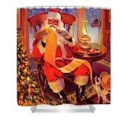 The Christmas List Shower Curtain
