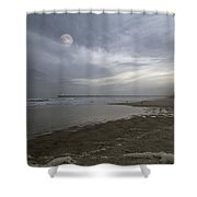 The Christmas Moon Shower Curtain