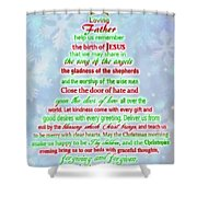 The Christmas Prayer Shower Curtain