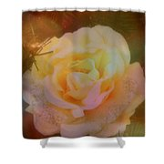 The Christmas Rose Shower Curtain